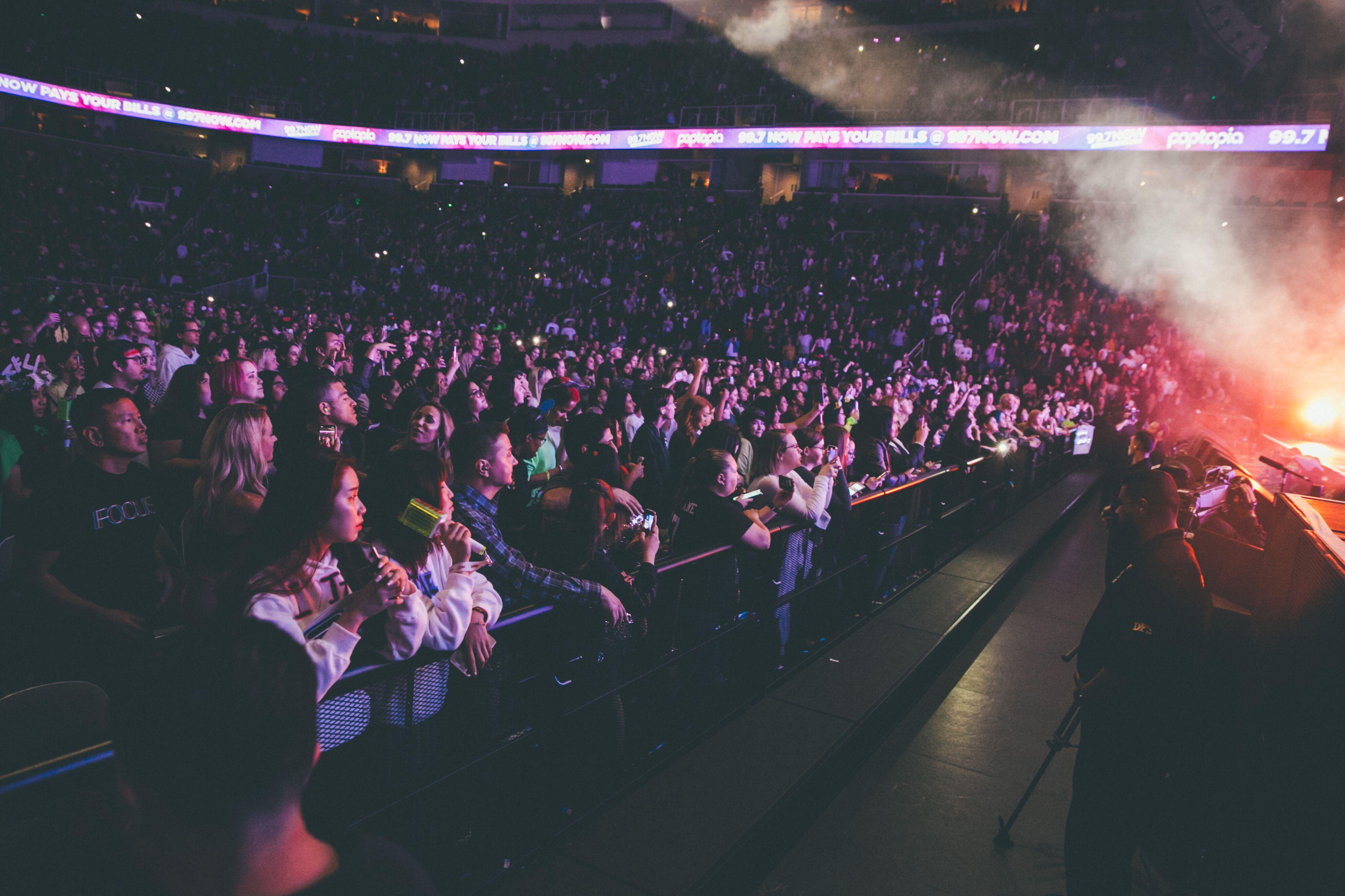 Poptopia concert audience