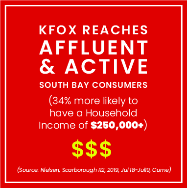 KFOX affluent south bay consumers
