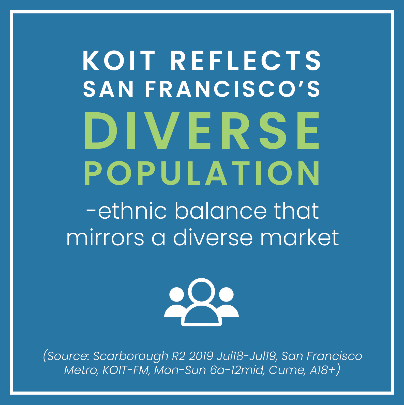 KOIT San Francisco diverse population