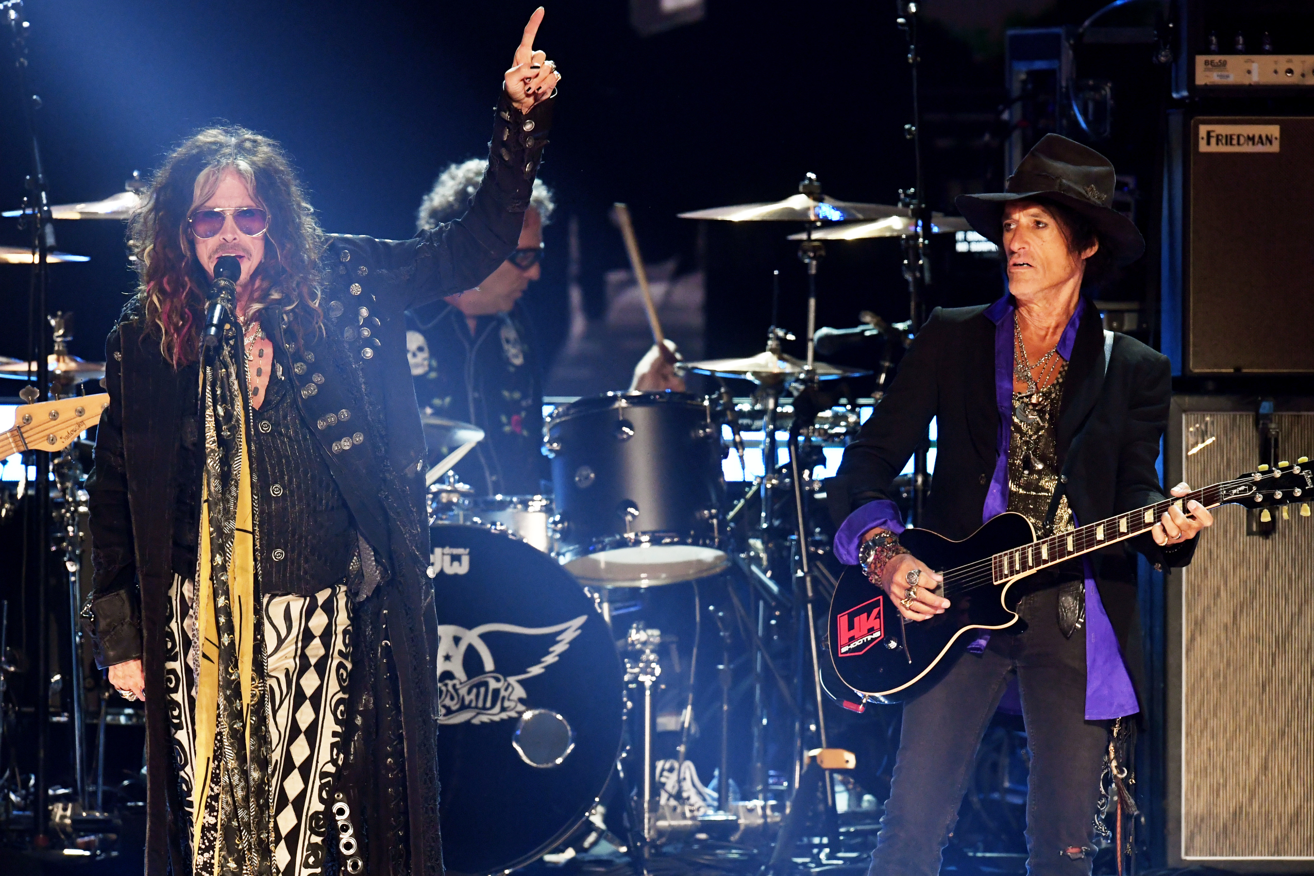 Aerosmith live in concert on stage
